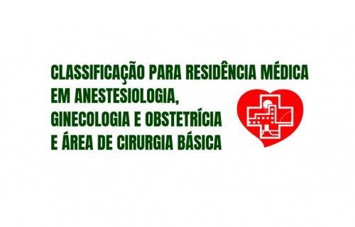 CLASSIFICAÇÃO PARA RESIDENCIA MÉDICA
