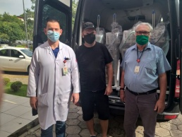 Hospital Regional de Rio do Sul recebe respiradores e monitores