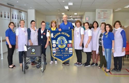 Lions de Rio do Sul entregou doação no HRAV