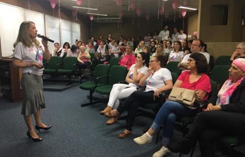 HRAV promoveu palestras para lembrar o Outubro Rosa