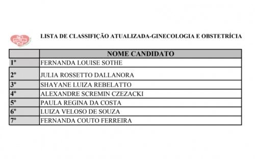 Hospital Regional atualiza lista de classificados