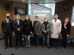 Vice-governadora faz visita de cortesia ao Hospital Regional